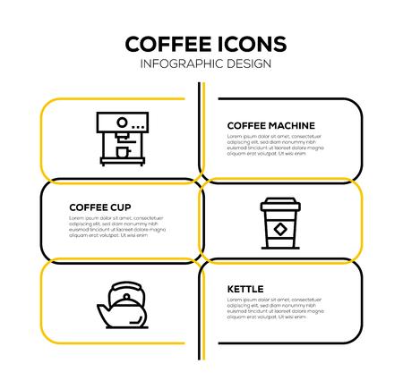 COFFEE ICON SET Illustration