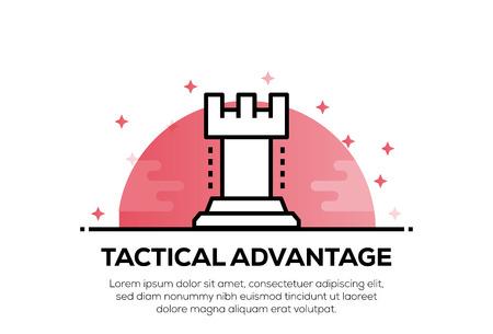 TACTICAL ADVANTAGE ICON CONCEPT Illustration