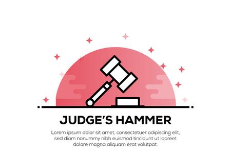 JUDGE'S HAMMER ICON CONCEPT Illustration