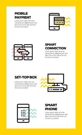SMART TECHNOLOGY LINE ICON CONCEPT