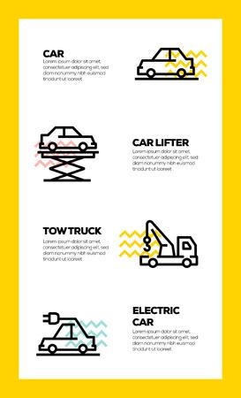 CAR SERVICE LINE ICON CONCEPT