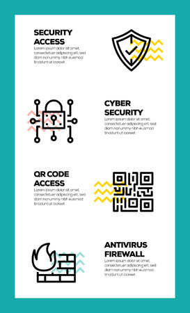 CYBER SECURITY LINE ICON CONCEPT Vector Illustration