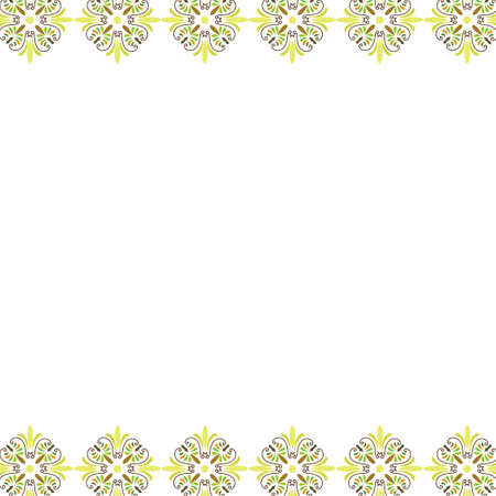 Flower borders on white background  イラスト・ベクター素材