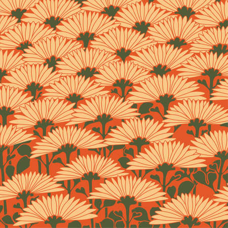 Seamless flower background  イラスト・ベクター素材