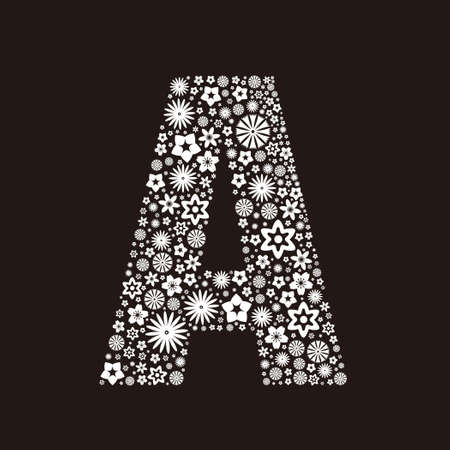 Letter A  made of flowers design