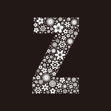 Letter z  made of flowers design