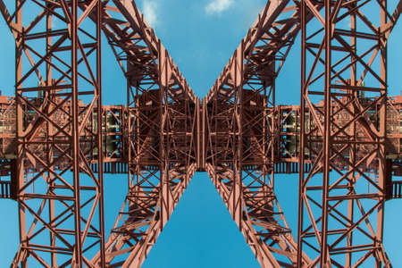 Mining tower  mirrored  colliery Zollverein photo