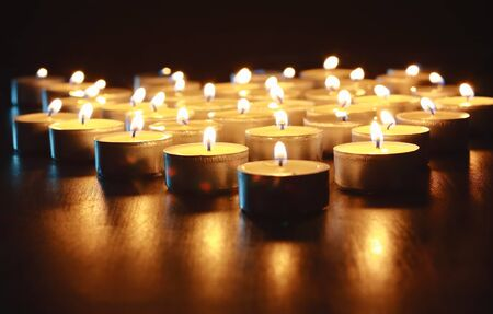 candles lit at night to illuminate and leave behind the occurrence of the night