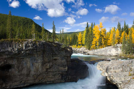 canada: elbow falls in autumn