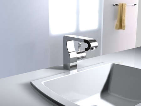 render residence: concept faucet
