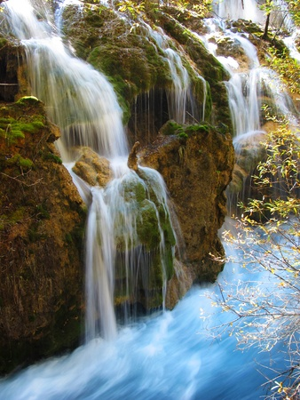 Pearl Waterfalls, Jiuzhaigou, China photo