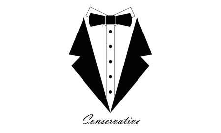 tie bow: conservatore