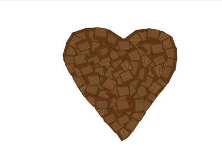 chocolate heart Stock Vector - 19623246