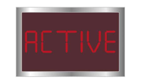 digital active Stock Vector - 21263498