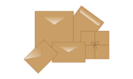 postal envelope Illustration