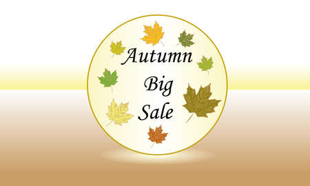 autumn big sale Illustration