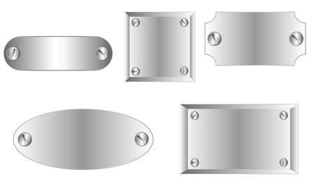 metal badges Illustration