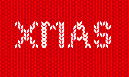 xmas wool texture background Illustration