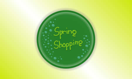 dewy: vector dewy icon spring shopping  Illustration