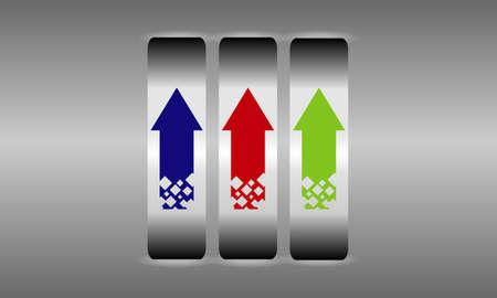 gradiant: color darts Illustration