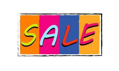 foodstuffs: sale sign Illustration