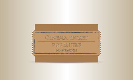 performace: cinema premiere ticket Illustration