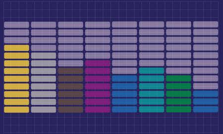 remix: vector equalizer background Illustration