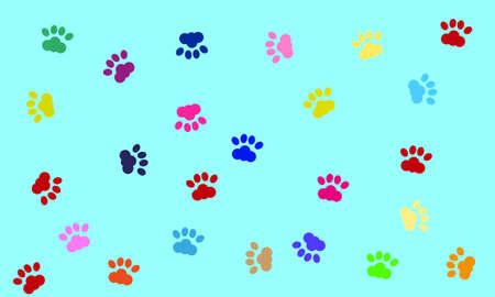 restless: vector dog paws Illustration