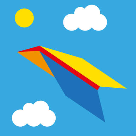high winds: illustration color airplane