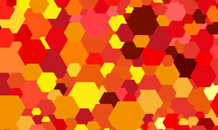 abstract color hexagon background