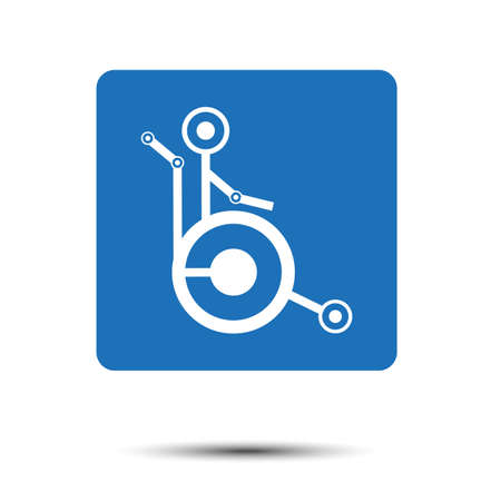 unobstructed: disabled person in wheelchair Illustration