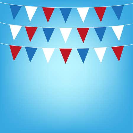 george washington: illustration flags background
