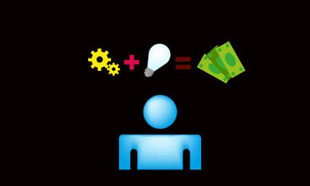 money idea vector Vector