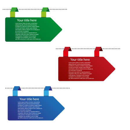 vector color arrow tags Vector
