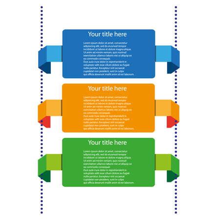 timelines: vector color timelines Illustration