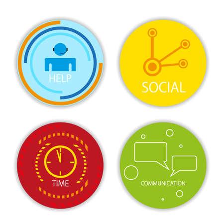 vector social icons Vector