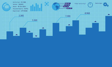 stockbroker: vector business infographic