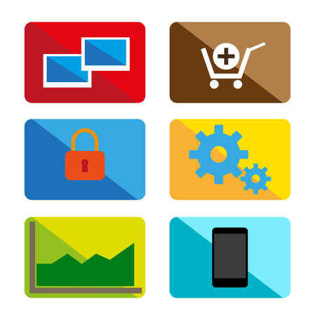 Design color icons Vector