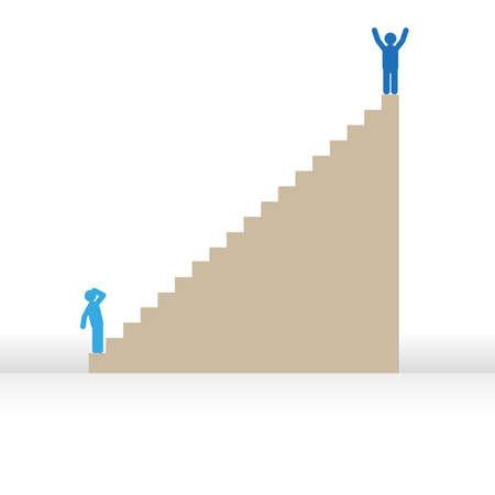 success man: Success man vector graphic Illustration
