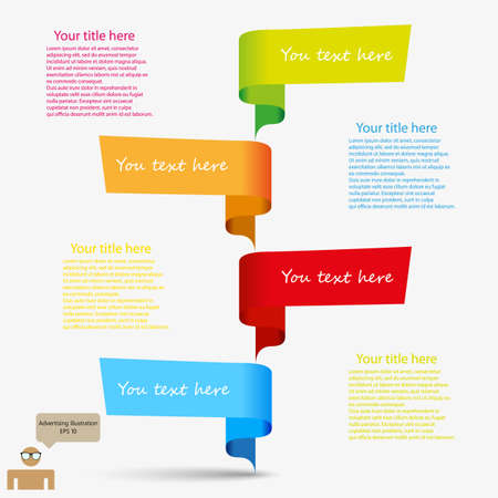 advertising template with color icons Illustration