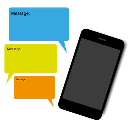 smart phone chat vector Vector