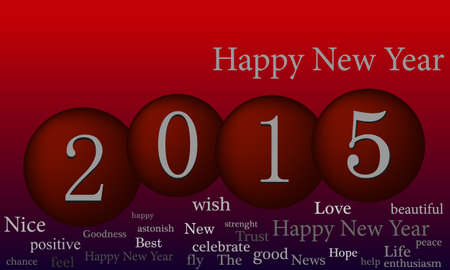 red label: Happy new year illustration background