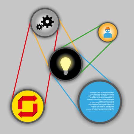 technology idea system background  Vector