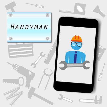 handyman advertising background