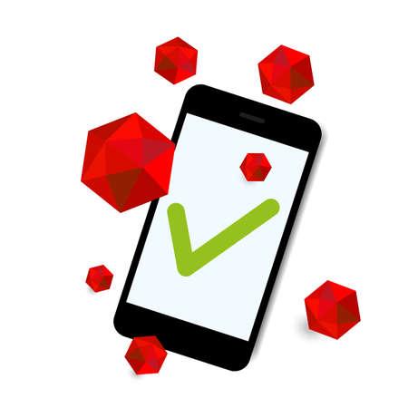 mal: virus attack smart phone background