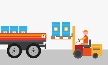 dangerous goods background  Illustration