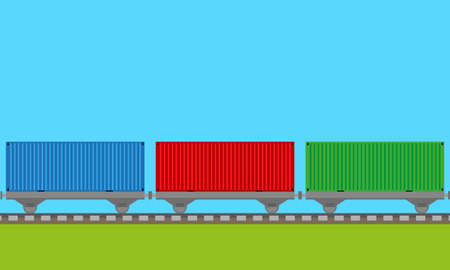 train transport background  Illustration