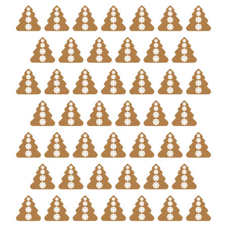 gingerbread christmas background vector Vector