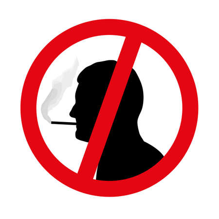respire: no smoking symbol vector