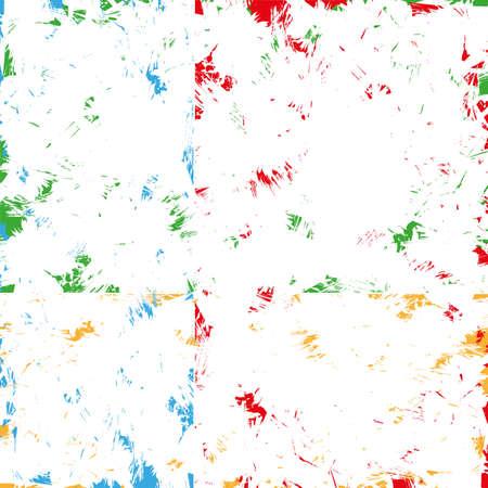 grunge color brushed background vector Çizim